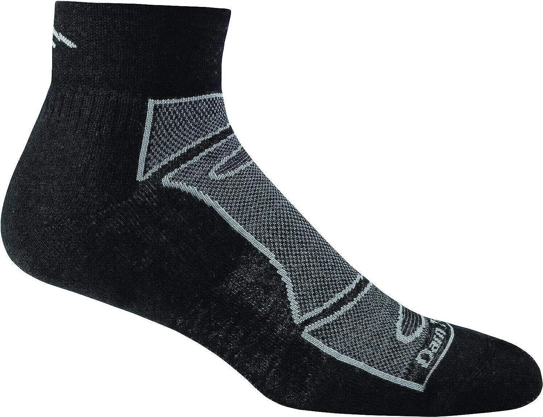 Darn Tough Run/Bike Light Cushion Quarter Sock - Men's