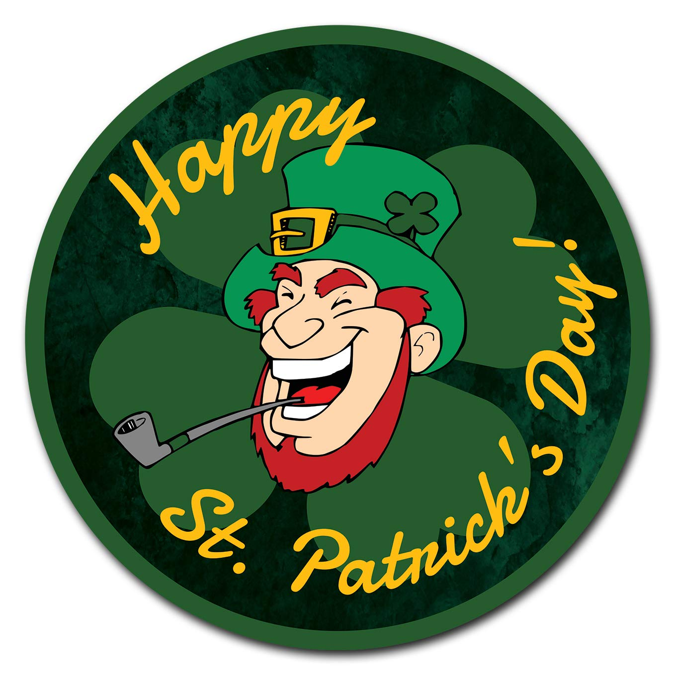 SignMission Vinyl Laminated Decal 12' Tall - Happy St Patrick Day 2 | Decal |  Made in The USA