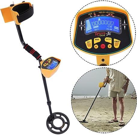 LCD Metal Detector Kit Deep Sensitive Gold Digger Hunter Search Waterproof Coil