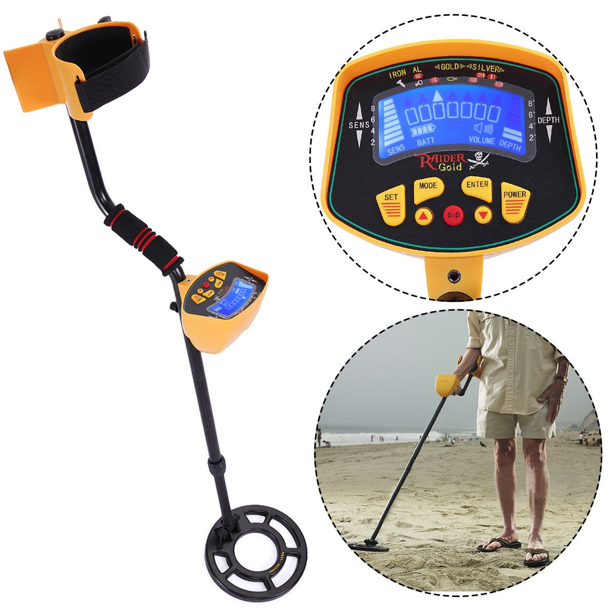 JAXPETY MD-3010II Metal Detector Gold Digger Light Hunter Deep Sensitive Search LCD