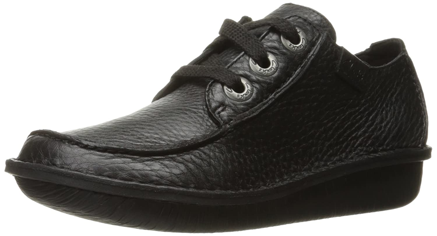 Black Leather Clarks Womens Funny Dream Oxford