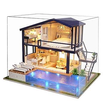 Kit De Maison De Poupée Miniature En Bois De Bricolage Appartement