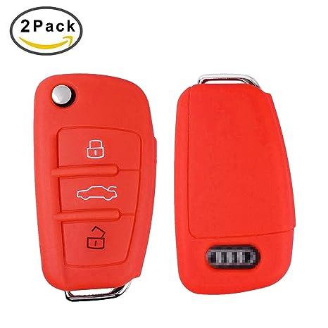 E-Mandala Funda llave Audi, 3 Botones Llave Carcasa in ...