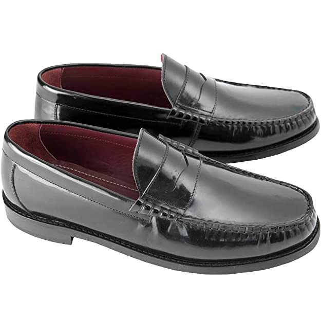 Vintage Inspired Dresses & Clothing UK Steptronic ALBION Mens Polished Leather Loafer Shoes Black £70.00 AT vintagedancer.com