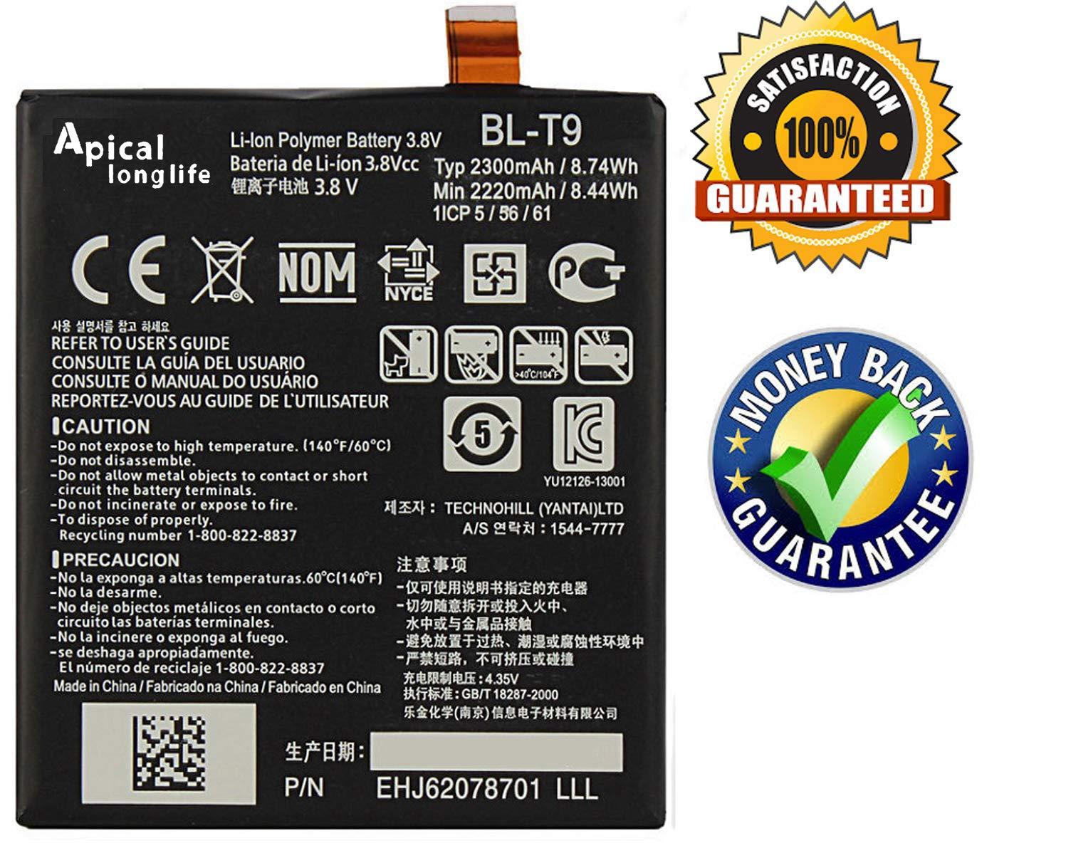 Bateria Celular LONGLIFE Compatible para Google Nexus 5 LG D820 D821 2300mAh BL T9 3.8V 8.74Wh Batería de repuesto