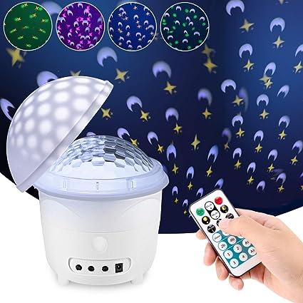 Amazon.com: Proyector de luz nocturna, control remoto y ...