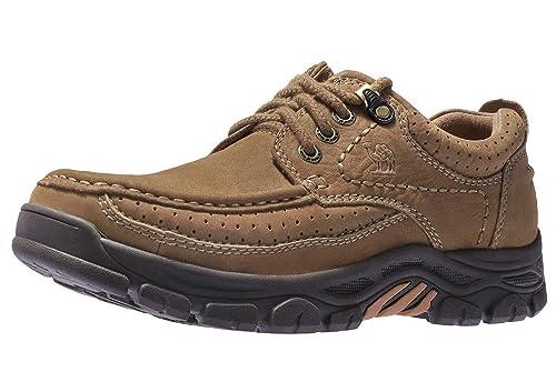 CAMEL CROWN Freizeitschuhe Walkingschuhe Low Top Mokassins Slip on Loafers Bequeme Lederschuhe Männer für Arbeit Business Kleid im Freien