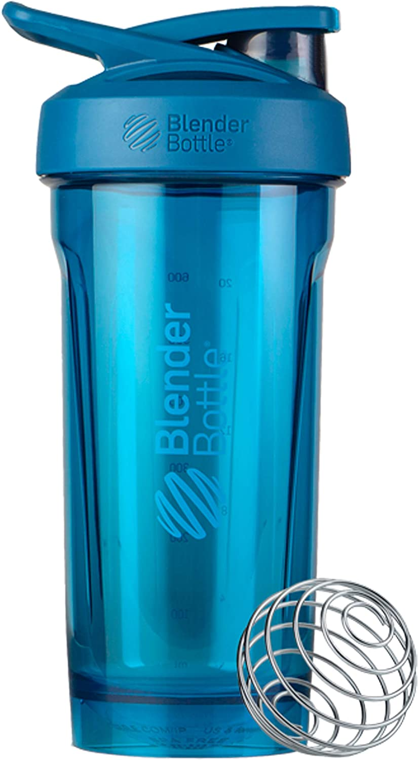 BlenderBottle Strada Tritan Shaker Bottle with Locking Lid, 28-Ounce, Blue