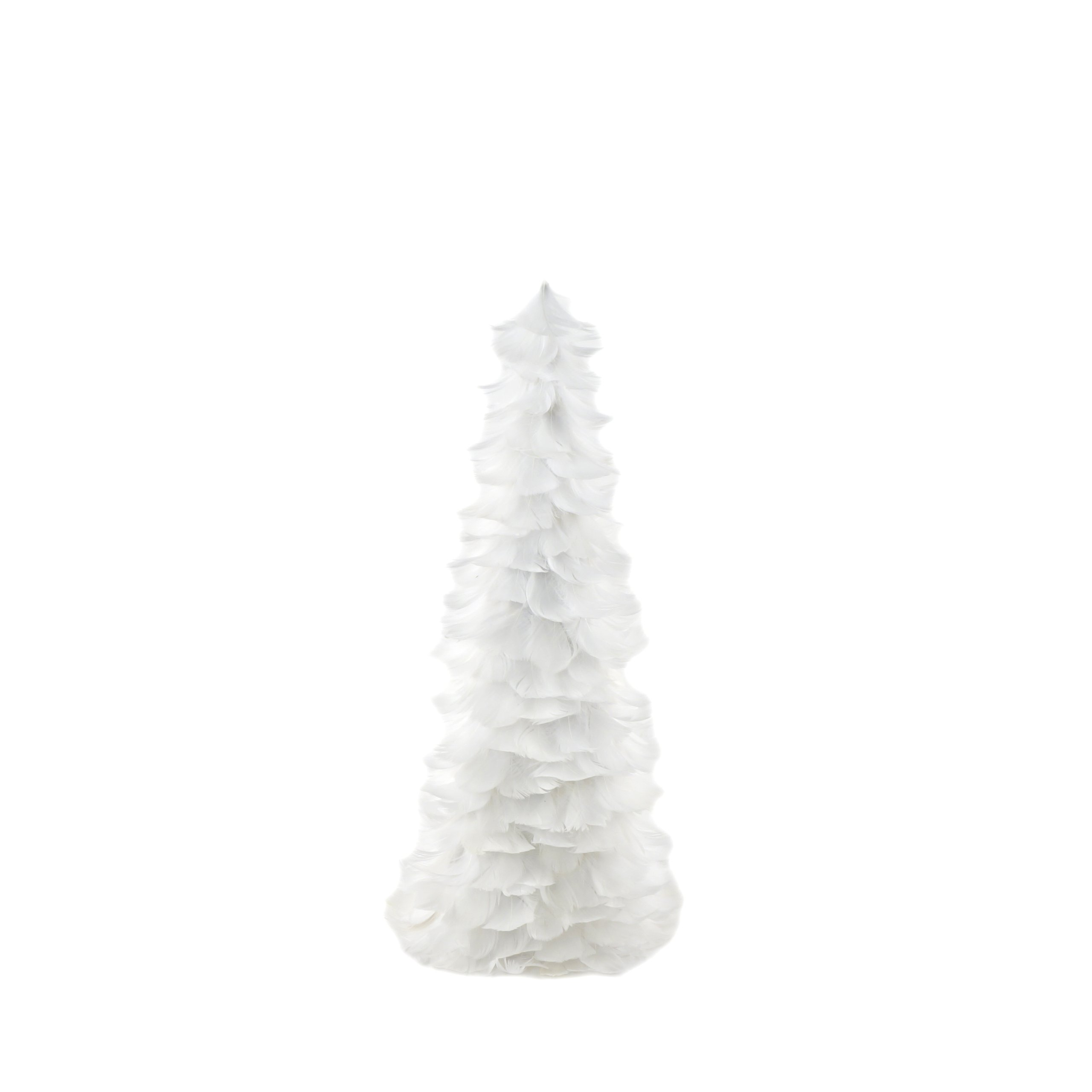 ZUCKER  Goose Coquille Feather Christmas Tree - White - 18''