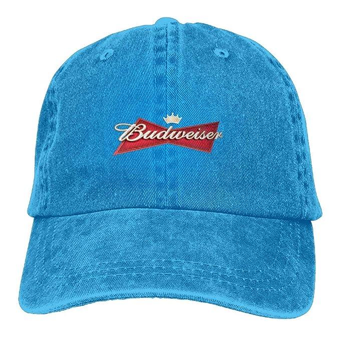 2d98a6b5 Amazon.com: Unisex Budweiser Beer Logo Baseball Cap Cowboy Hat Adjustable  Snapback Adult: Clothing