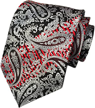 Jacquard Woven Neck Tie Set For Men Floral Pattern Classic Formal Event Wear New
