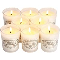 Citronella Candles Outdoor and Indoor, Natural Soy Wax Glass Candles, Scented Candles Gift Set of 8 x 2.5 oz