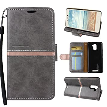 Asnlove Aquaris U Plus Funda Cartera, Carcasa Billetera para ...