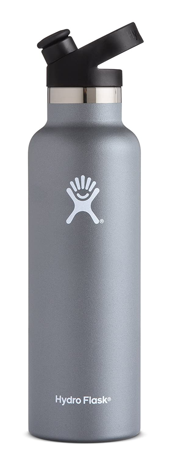 Hydro Flask Bottle | Stainless Steel & Vacuum Insulated | Standard Mouth with Sport Cap | Multiple Colors