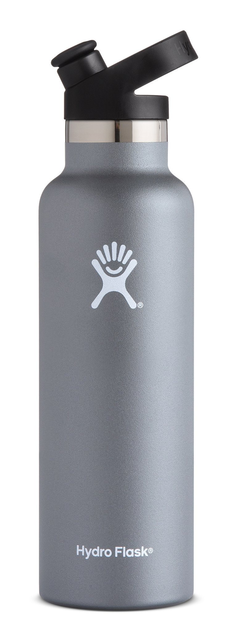 Hydro Flask 21 oz Double Wall Vacuum Insulated Stainless Steel Sports Water Bottle, Standard Mouth with BPA Free Sport Cap, Graphite
