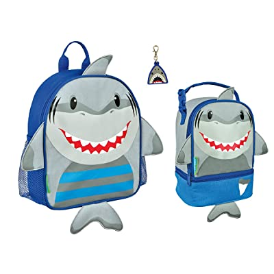 Stephen Joseph Boys Mini Sidekick Shark Backpack and Lunch Pal with Zipper Pull 30%OFF