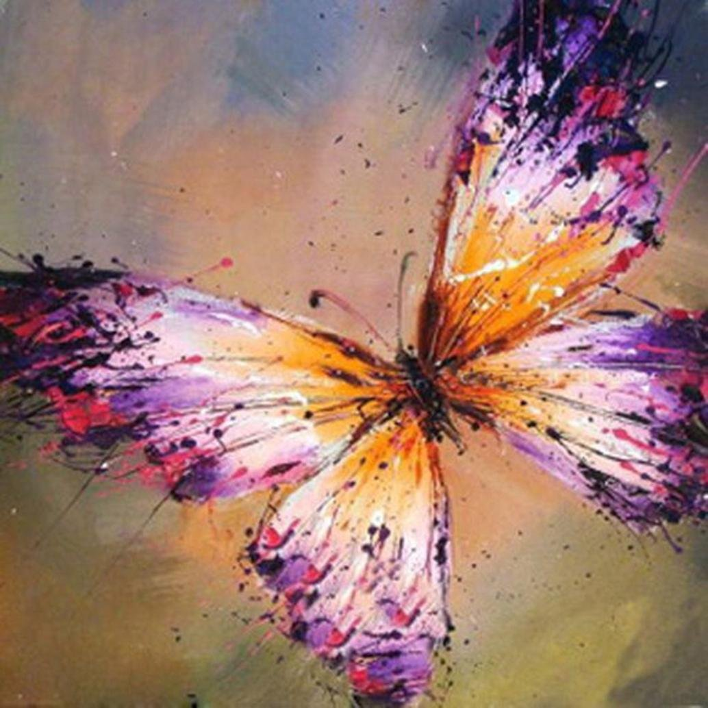 DIY 5D Diamond Painting, Cheng ® 5D Colorful Butterfly Pictures Arts Embroidery Paintings Rhinestone Pasted DIY Diamond Painting Cross Stitch Full Kits Home Wall Decor Art Decoration (A) Cheng Diamond Painting