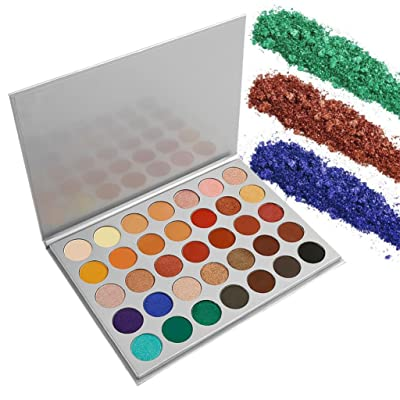 Pro Eyeshadow Palette Makeup Matte Shimmer 35 Colors Pigmented Smokey Eye Shadows