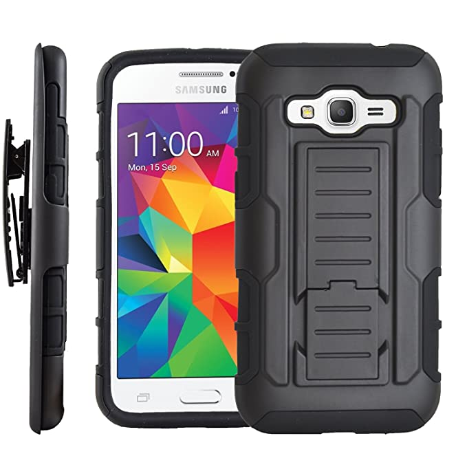 Amazon.com: Star Armor Holster Cases Compatible for Samsung Galaxy Grand Prime G530, Dual Layers Kickstand Phone Cover with [Premium HD Screen Protector ...