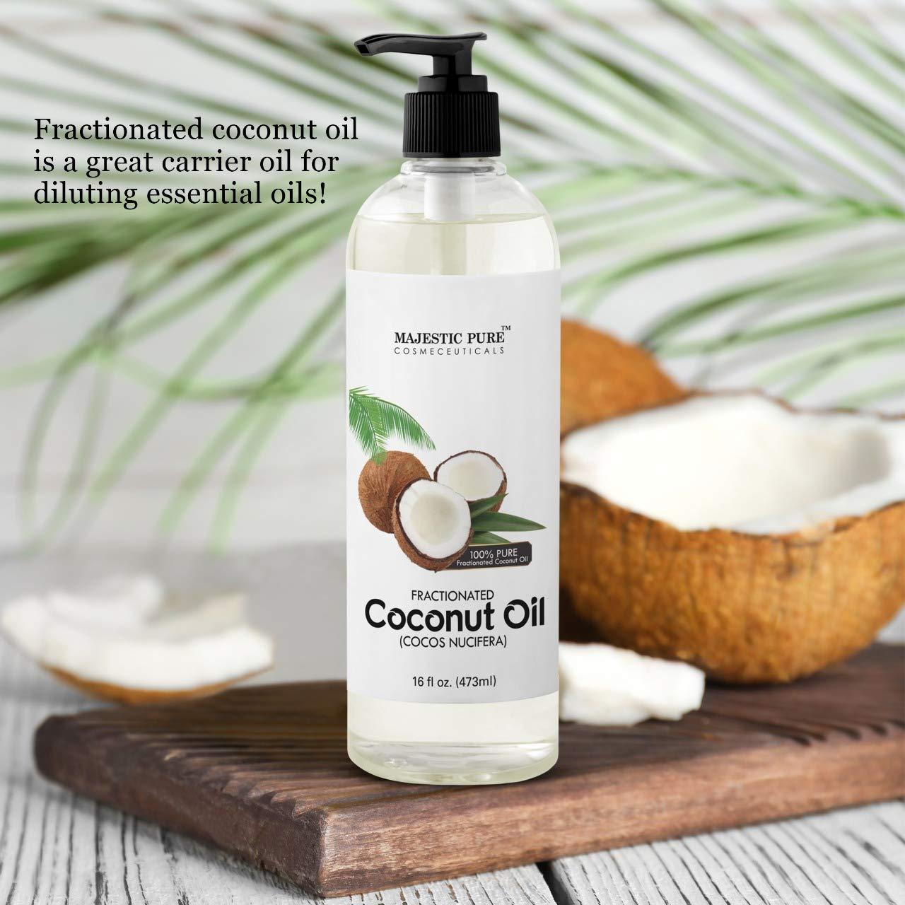 Reines fraktioniertes Kokosöl Coco von Majestic 473 ml