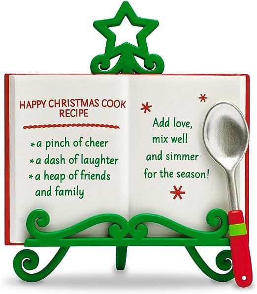 2016 Hallmark HAPPY CHRISTMAS COOK Recipe Book on Christmas Tree Stand Ornament