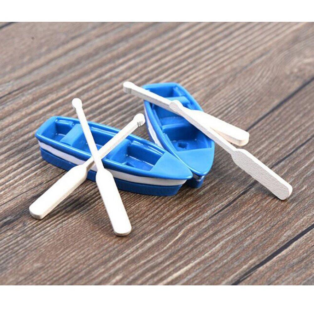 blau Vosarea 2 s/ätze von schiffsmodell Miniatur moos Micro Landschaft Boot Ornamente Mini Vintage Schiff Spielzeug Boot wohnkultur