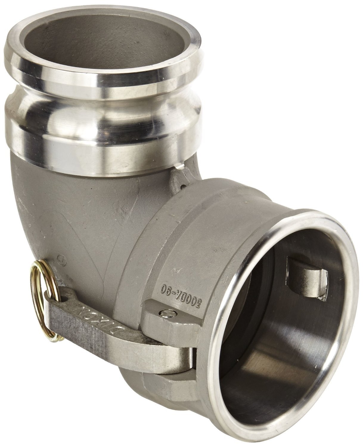 Dixon 300DA-90SS Stainless Steel 316 Cam and Groove Hose Fitting, 90 Degree Elbow, 3'' Plug x 3'' Socket