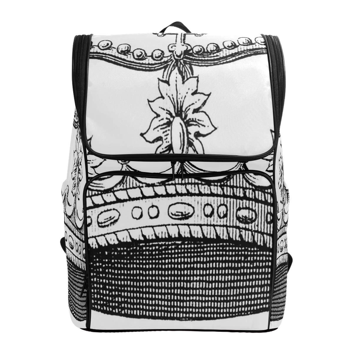 Travel Backpack Coral And Teal Floral School Backpack for Men Large Backpacking Bag