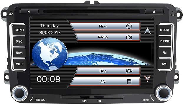 AWESAFE Radio Coche 7 Pulgadas con Pantalla Táctil 2 DIN para ...