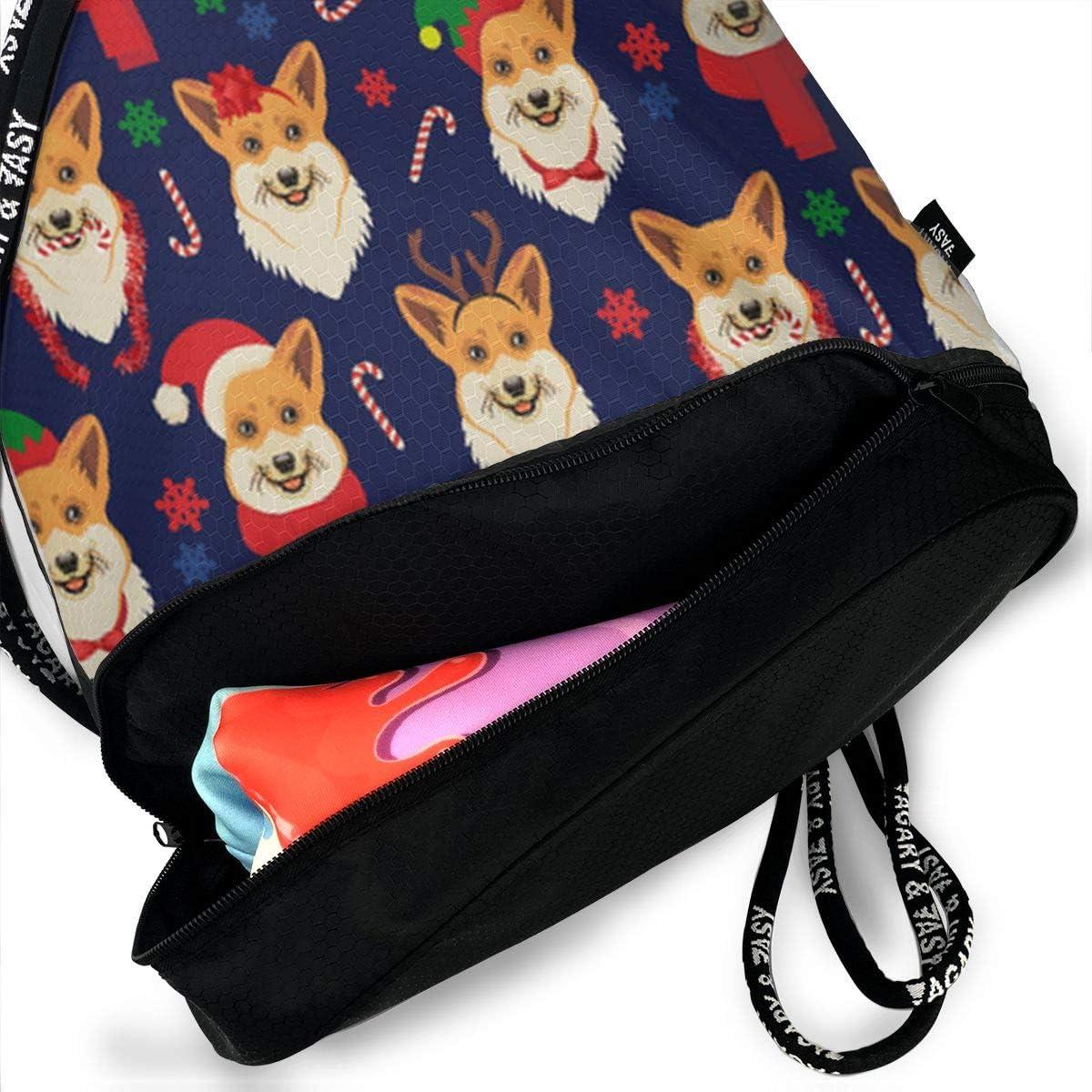 HUOPR5Q Yummy Sushi Pattern Drawstring Backpack Sport Gym Sack Shoulder Bulk Bag Dance Bag for School Travel
