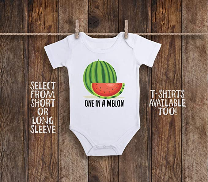 226719523 Watermelon Onesie Watermelon Baby Clothes One in a Melon Baby Outfit ...