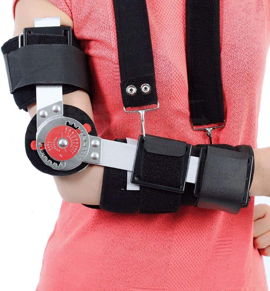 Y.orthosis Órtesis de Codo Disco de ángulo Ajustable Protector de Tela compuesta Transpirable Dispositivo de rehabilitación del Brazo