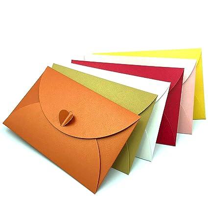ETUCK - Sobres pequeños de 6 colores para tarjetas de regalo ...