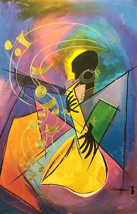 Amazon.com: Lady Sax ( Abstract / Music ) - Doyle 24x36 Unframed ...