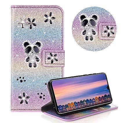 Moiky - Funda de piel para Huawei Mate 20, diseño de flores y ...