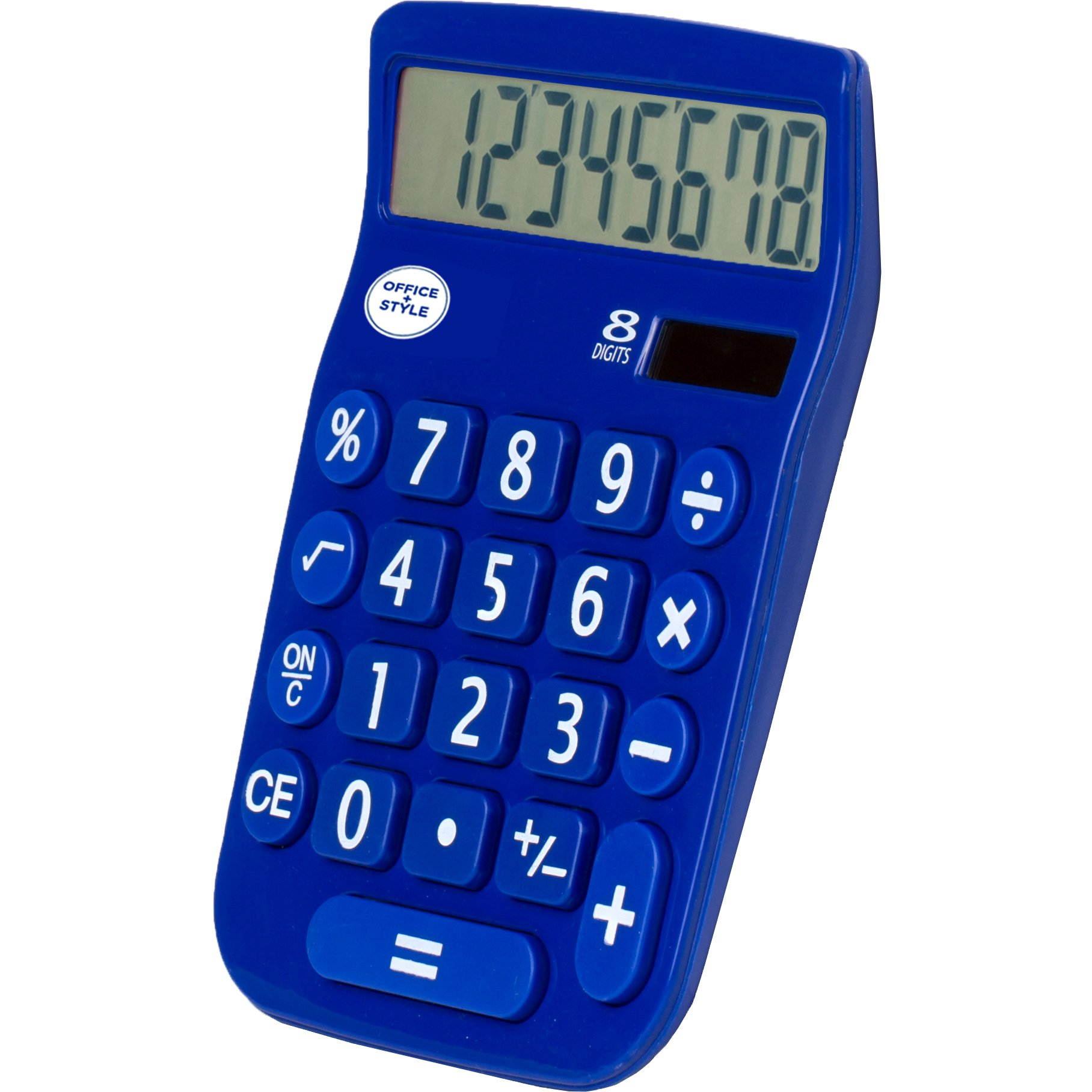 Office + Style 8 Digit Dual Powered Calculator with Large LCD Display, Blue (Pack of 6) by Office Style (Image #2)