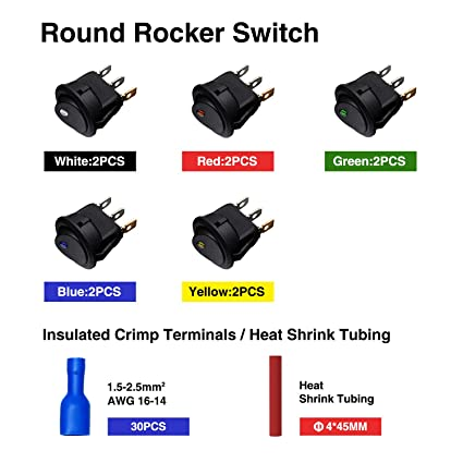 Rocker Switch Set Auto