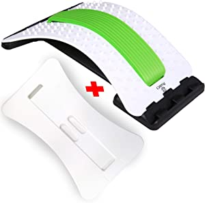 Best Arched Back Stretcher As Seen Doctors TV + 2 Different Boards, CHISOFT Lumbar Stretching Device + 2 Foam Cushion + Posture Corrector, Spine Decompression, Lumbar Traction, Sciatica Relief