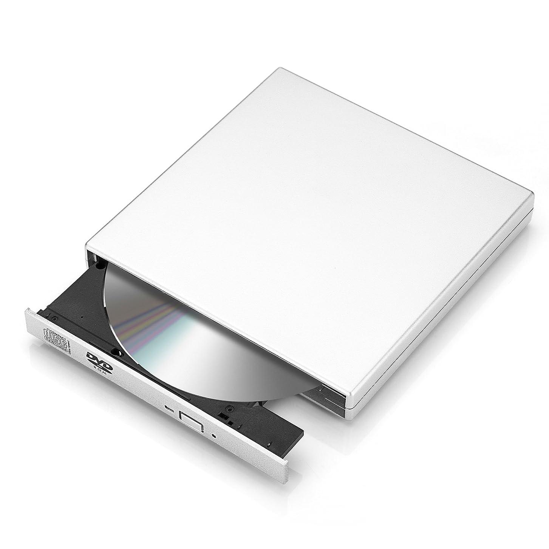 ポインタフィードオン石油Setom USB 2.0外付けドライブ CD/DVD書き込み専用 ポータブルレコーダー/プレイヤー USBケーブル付け