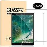 [2 Stück] Dexnor iPad Pro 10.5 2017 Schutzfolie Displayschutzfolie Glas Folie 9H Härte 0.33mm 99% Transparent 2.5D Kanten Anti-Fingerabdruck Anti-Kratz Glasfolie Panzerfolie