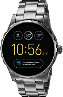 Amazon.com: Fossil Q Marshal Gen 2 Black Silicone ...