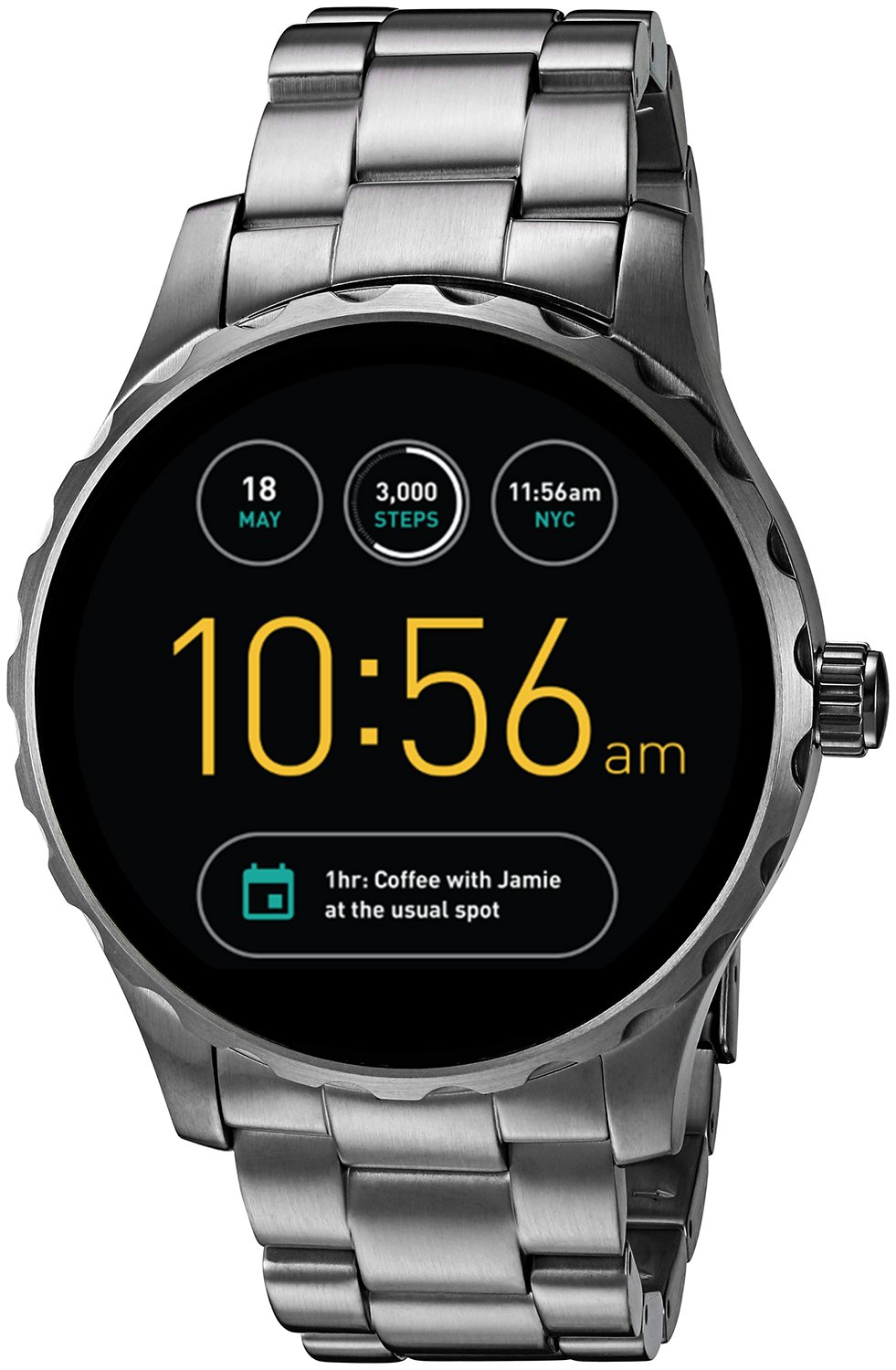 Fossil Q Marshal Gen 2 Smoke Stainless Steel Touchscreen Smartwatch FTW2108 by Fossil