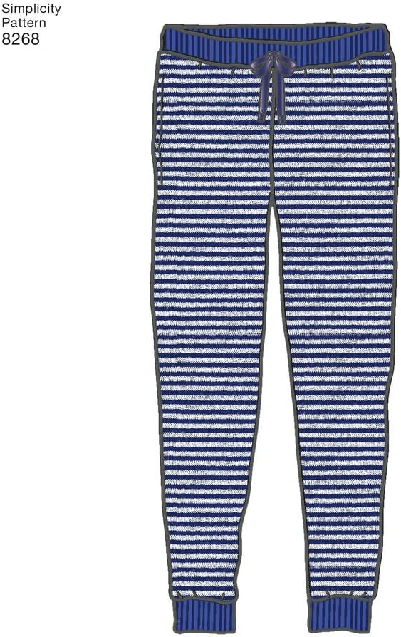 Simplicity Family Easy Sewing Pattern 8268 Slim Fit Knit Jogger Pants Simpli...