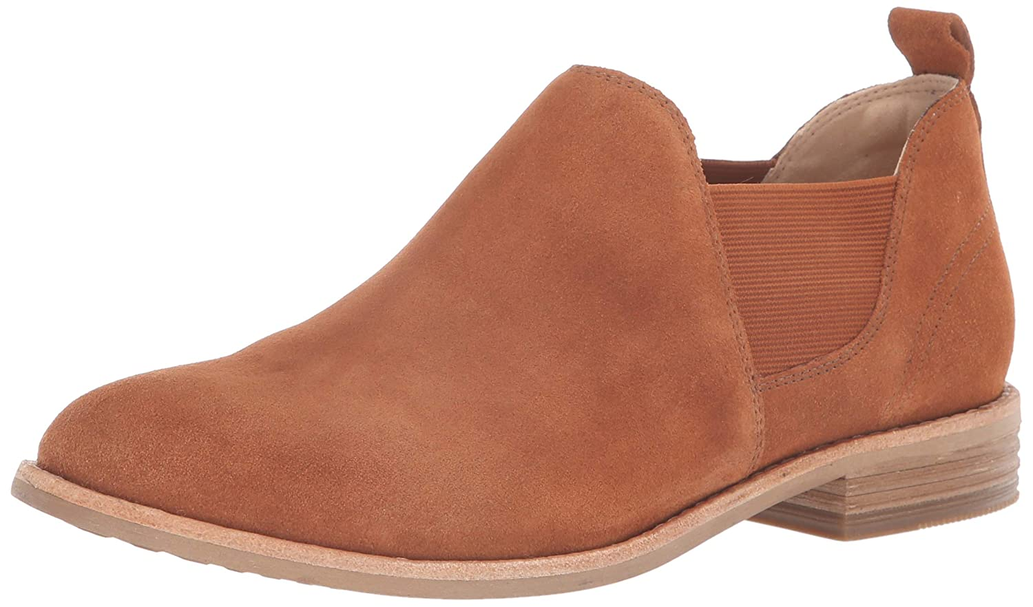 Dark Tan Suede Clarks Womens Edenvale Page Fashion Boot