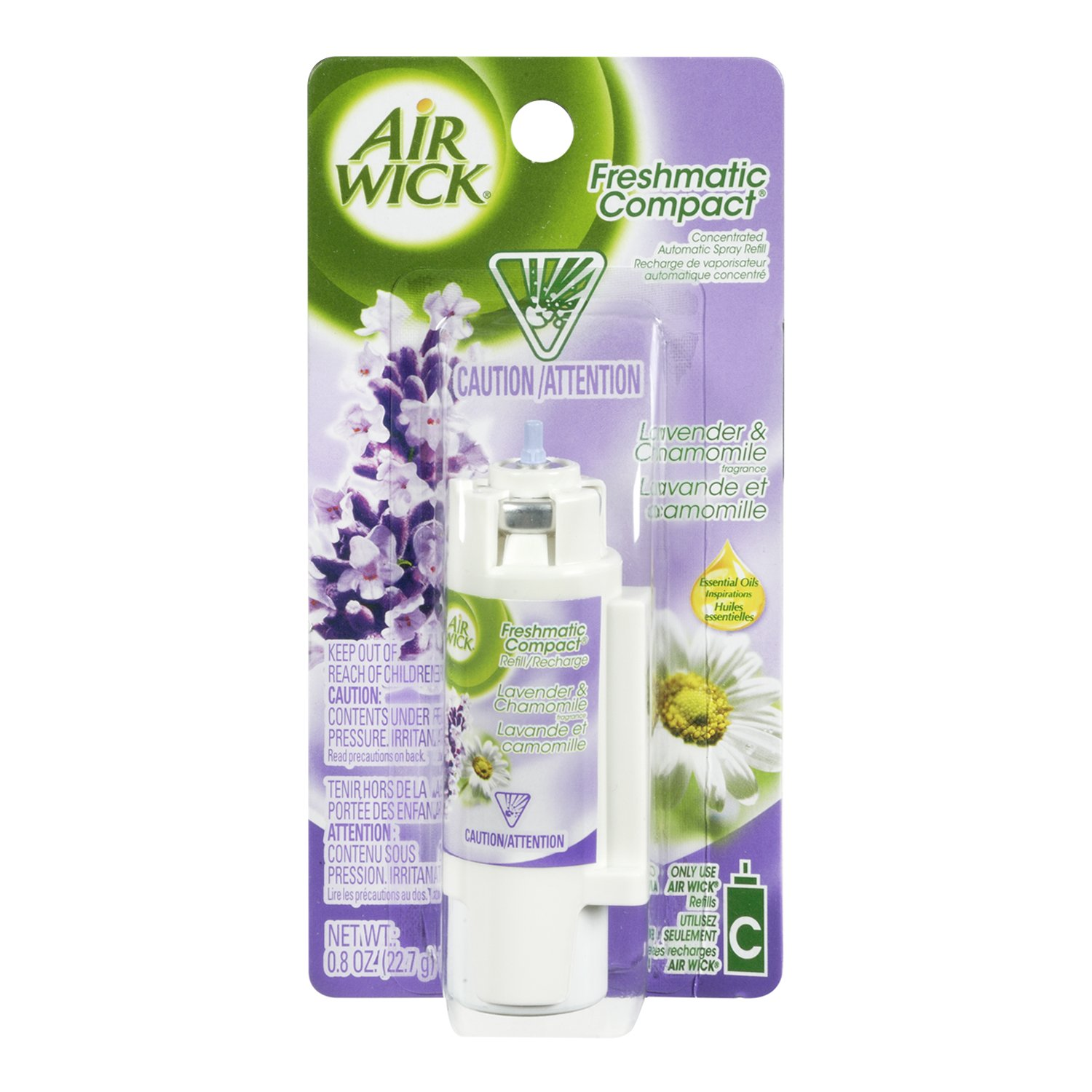 Airwick Freshmatic Compact Refill Lavender Fields 24ml Pack Of 10
