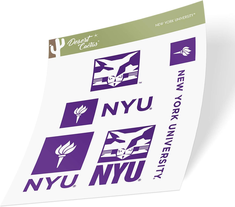 New York University NYU Violets NCAA Sticker Vinyl Decal Laptop Water Bottle Car Scrapbook (Type 2 Sheet)