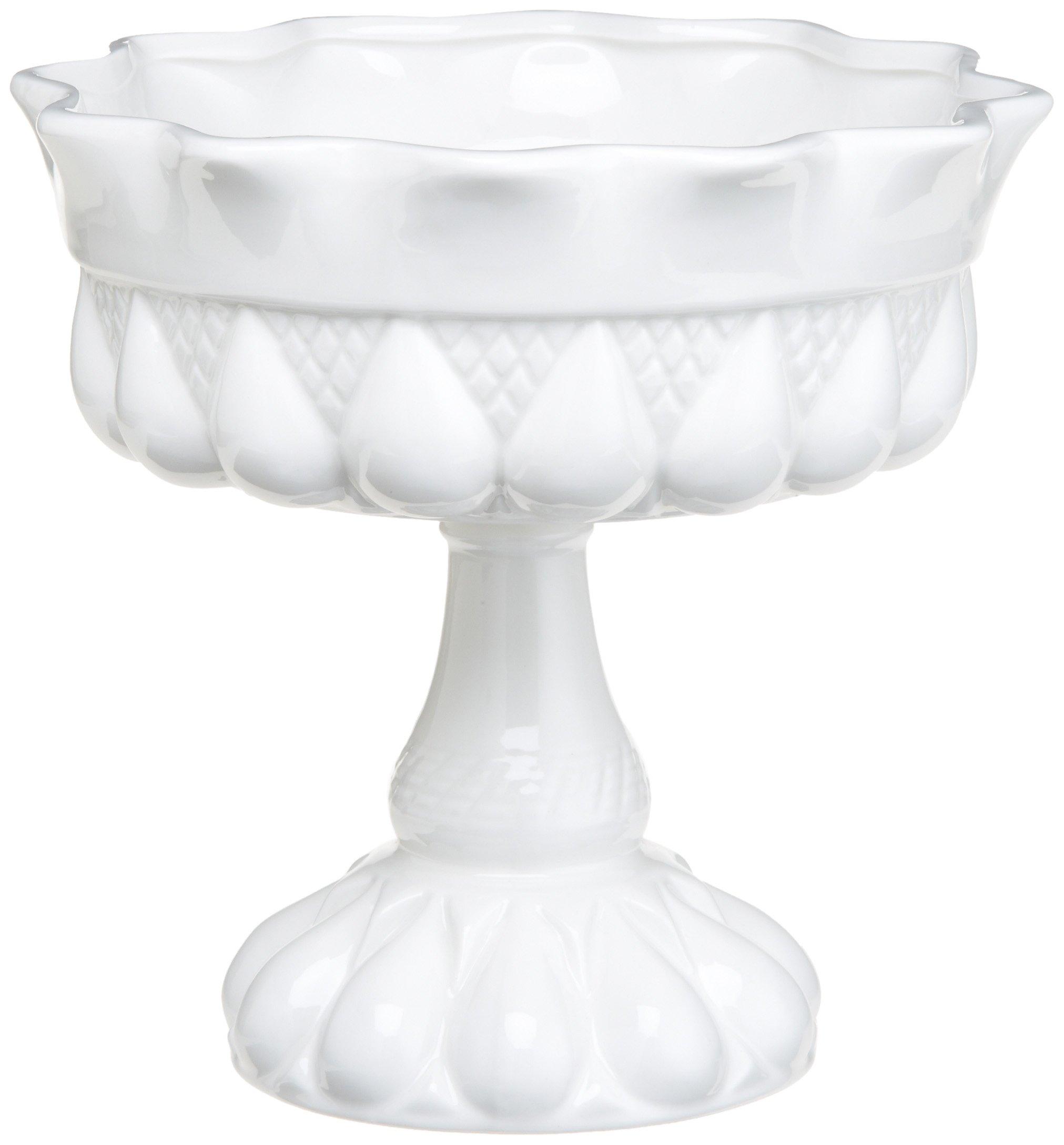 Rosanna Decor Bon Bon Footed Round Bowl White
