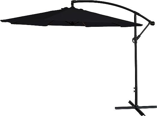 3M, parasol de jardín colgante, soporte independiente estilo banana, sombrilla de jardín., negro: Amazon.es: Jardín