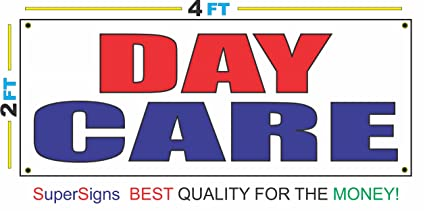 amazon com day care 2x4 red white blue banner sign daycare