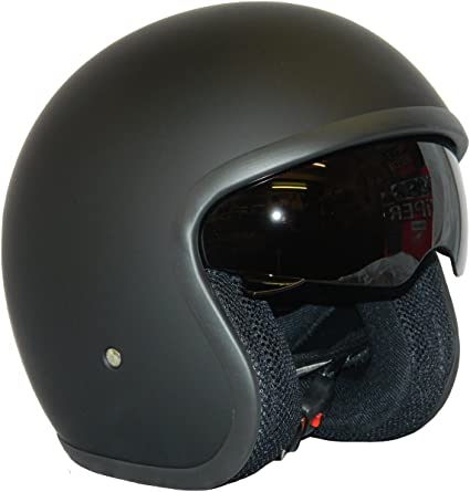 S, Matt Negro Star Casco de la Motocicleta Jet Casco Cascos Abiertos VIPER RS-V06 Casco de Moto Con Visera Nuevos Colores